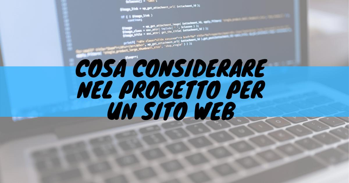 Cosa considerare nel progetto per un sito web?