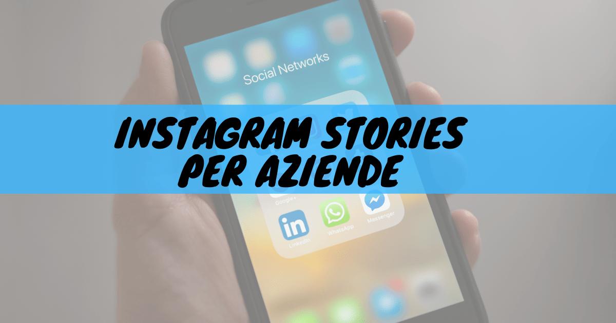 Iinstagram stories per aziende