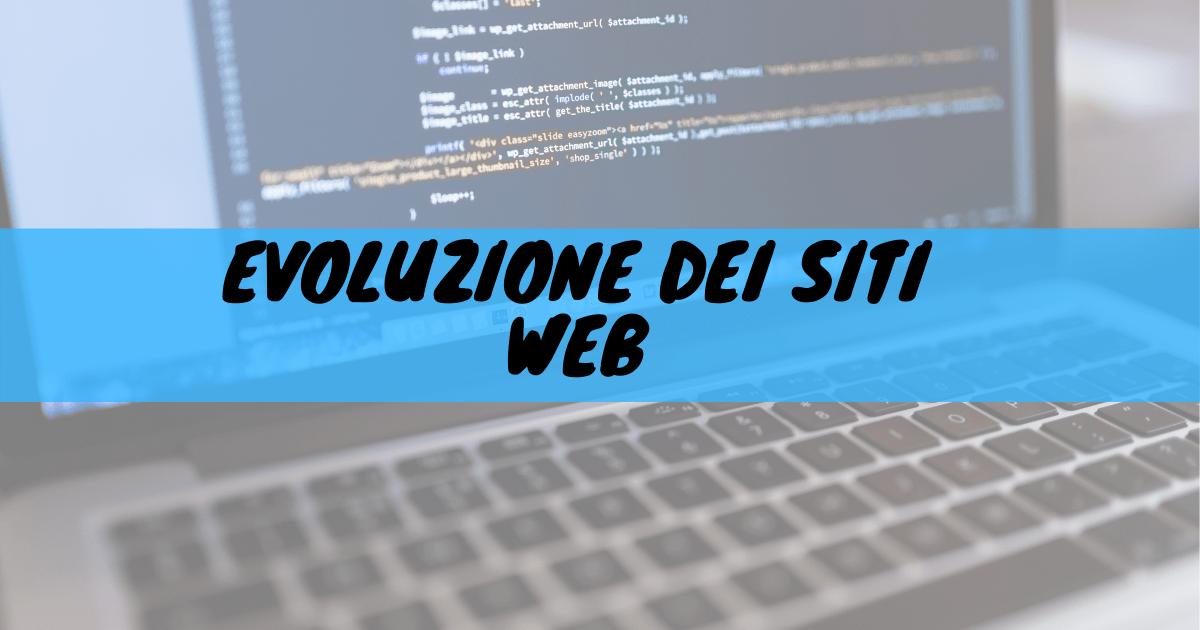 Evoluzione dei siti web